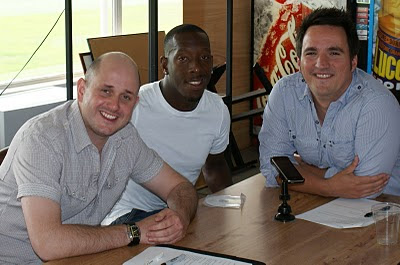 Mike and Jon with Lloyd Doyley